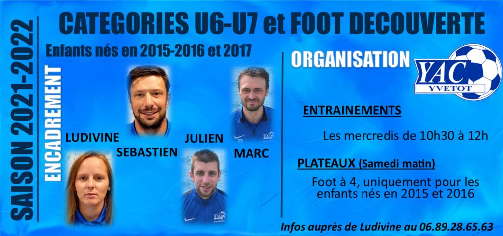 SAISON 2021-2022: CATEGORIES U6/U7/FOOT DECOUVERTE