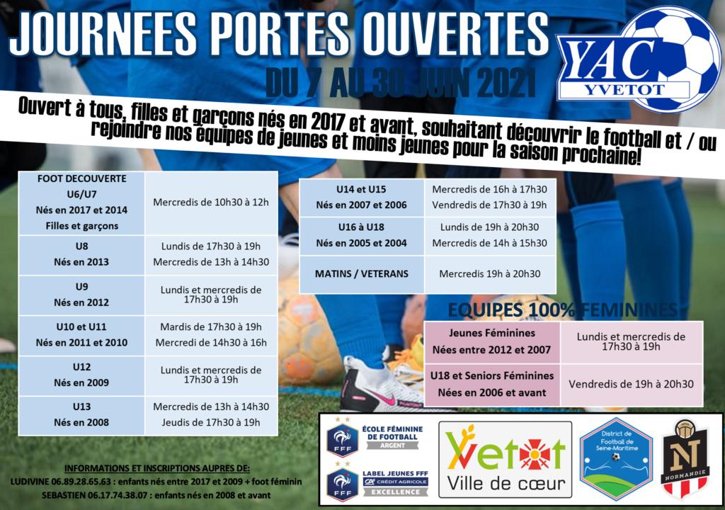JOURNEES PORTES OUVERTES JUIN 2021